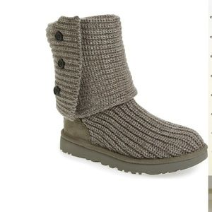 UGG fold over knit boots